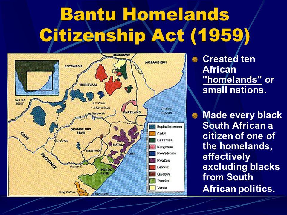 Bantu Homelands Citizenship Act (1959)