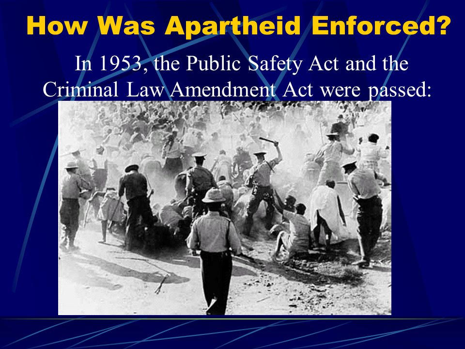 How Was Apartheid Enforced