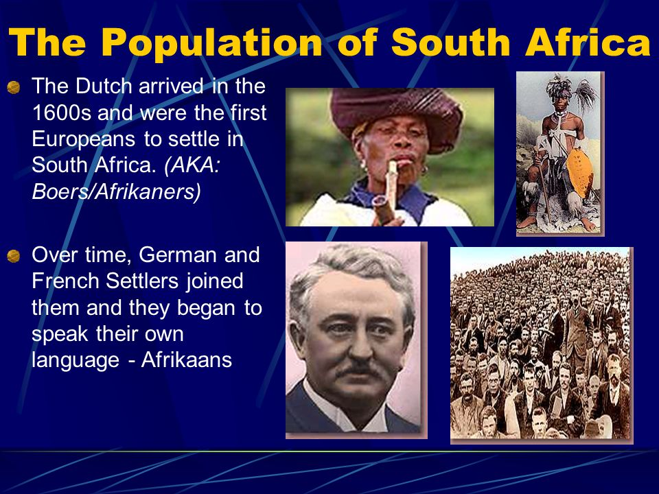 The Population of South Africa