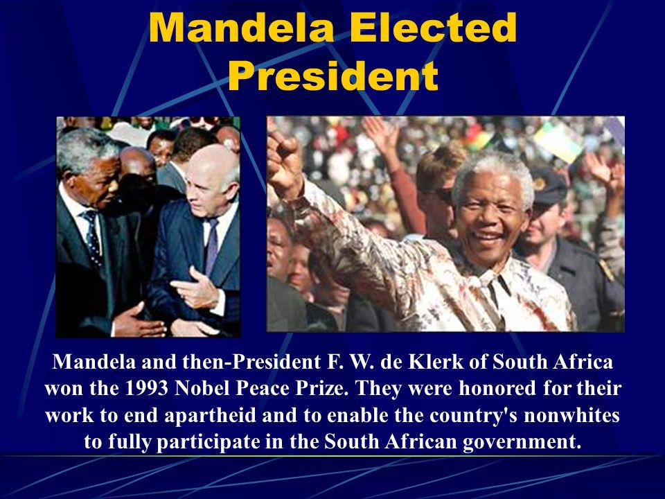 Mandela Elected President