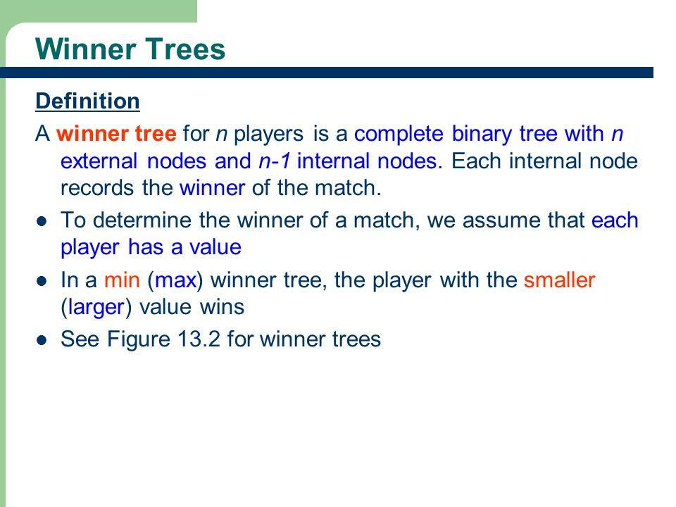 Winner Trees Definition