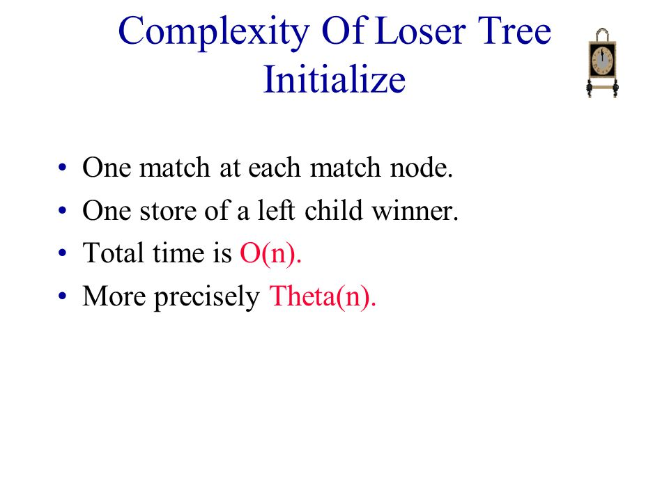 Complexity Of Loser Tree Initialize