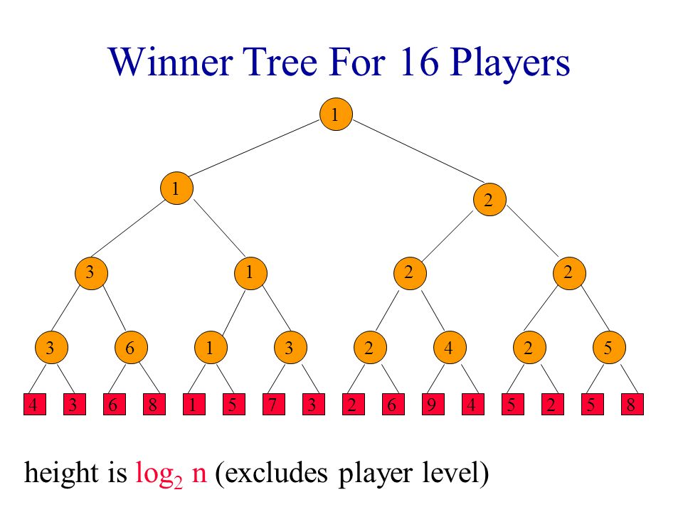 Winner Tree For 16 Players
