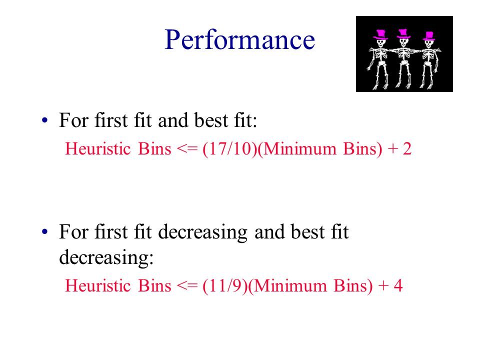 Performance For first fit and best fit: