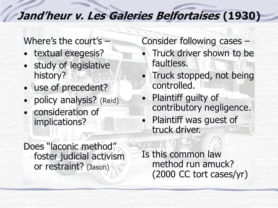Jand'heur v. Les Galeries Belfortaises (1930)