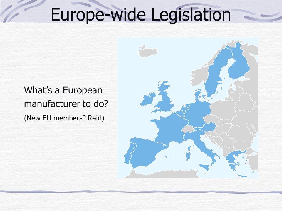 Europe-wide Legislation