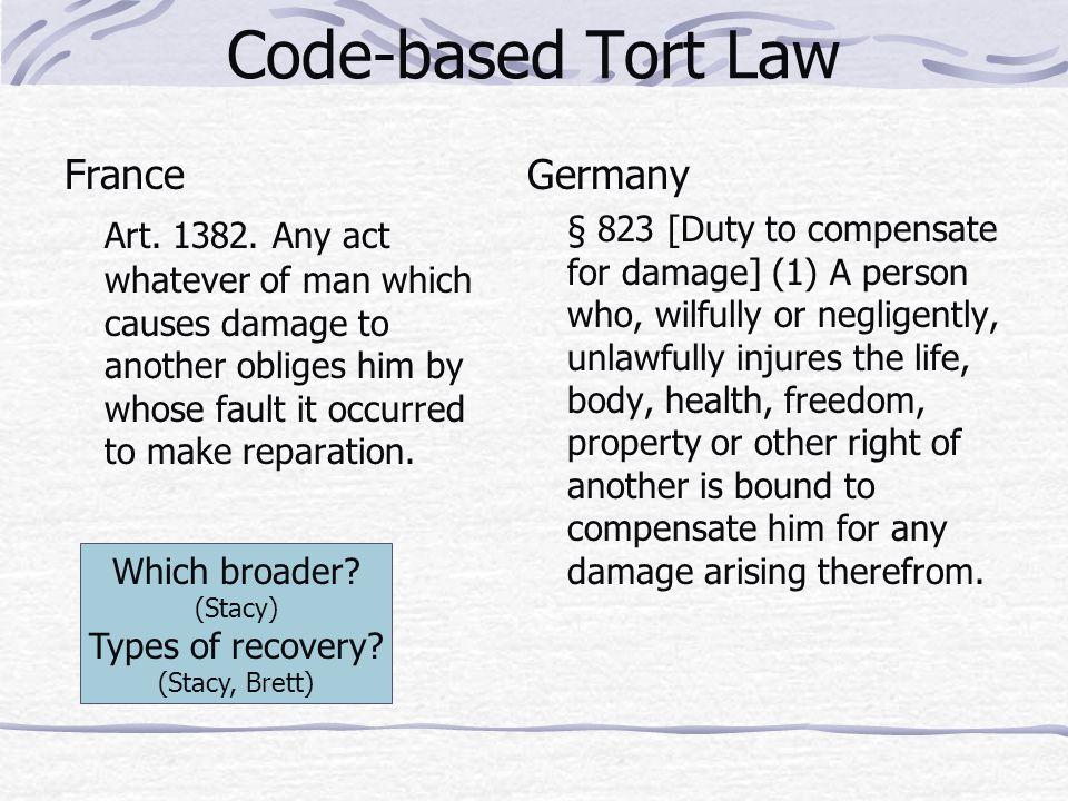 Code-based Tort Law France