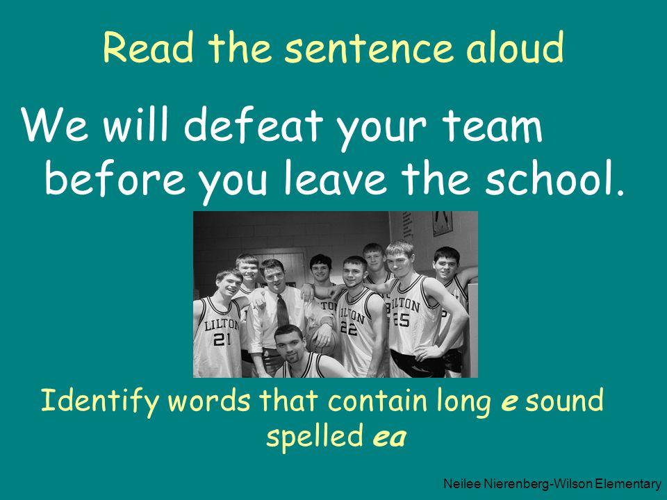 Read the sentence aloud