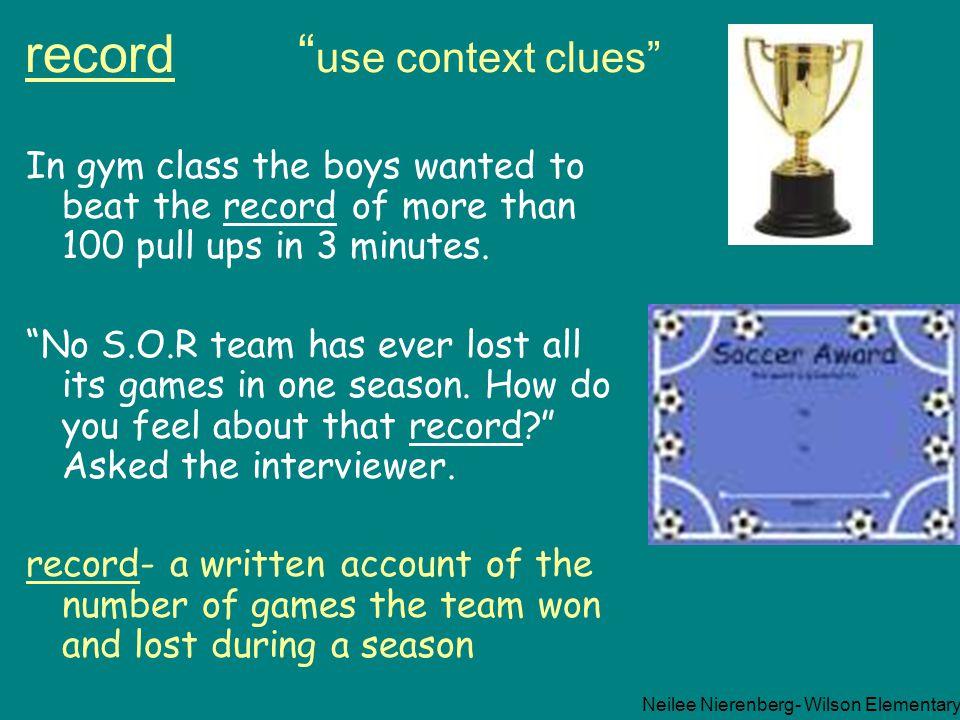 record use context clues