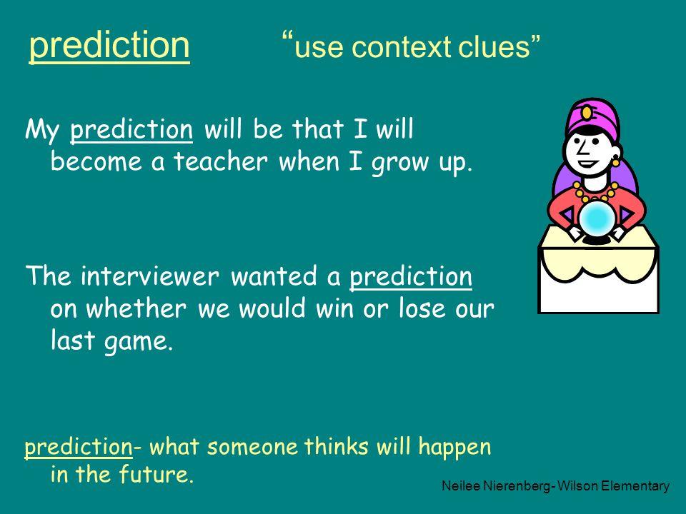 prediction use context clues