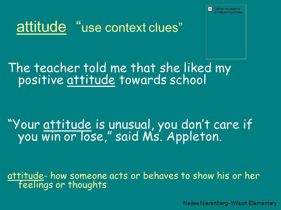 attitude use context clues