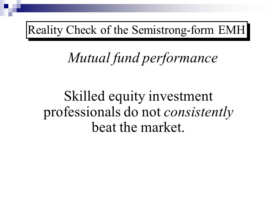 Reality Check of the Semistrong-form EMH