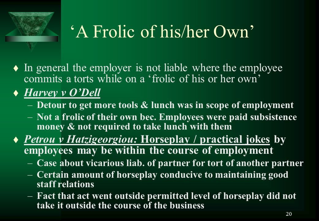 'A Frolic of his/her Own'