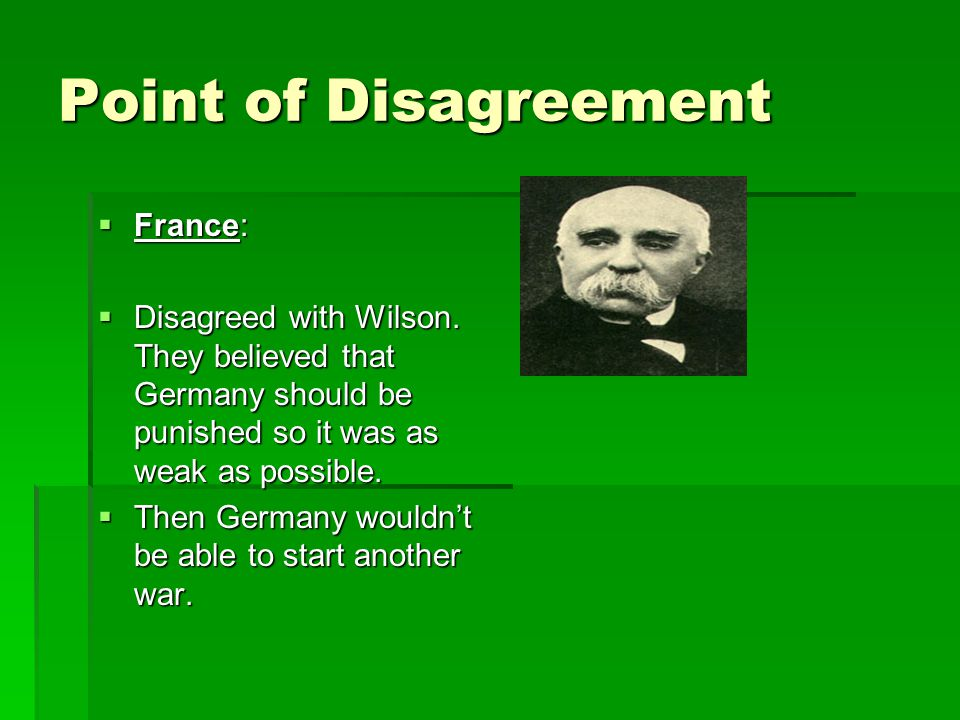 Point of Disagreement France: