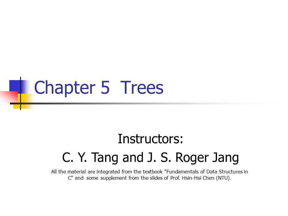C. Y. Tang and J. S. Roger Jang