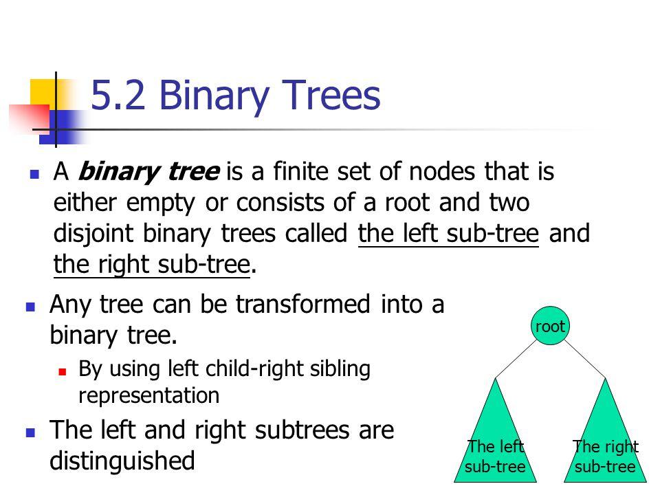5.2 Binary Trees