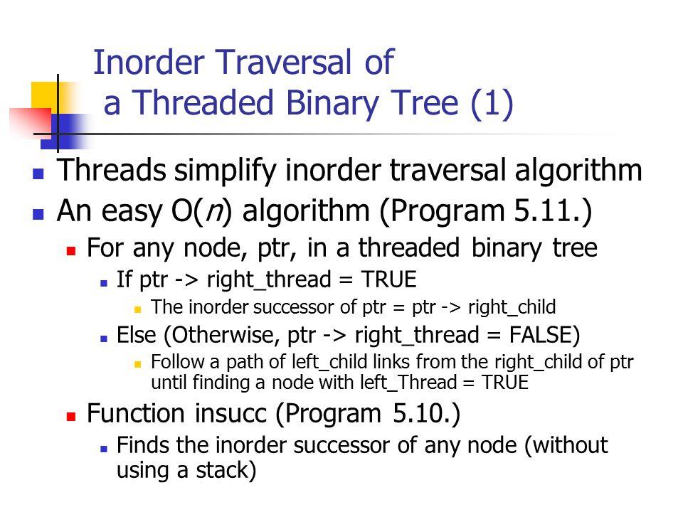 Inorder Traversal of a Threaded Binary Tree (1)
