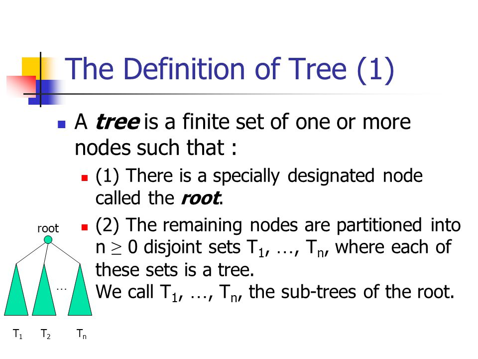 The Definition of Tree (1)
