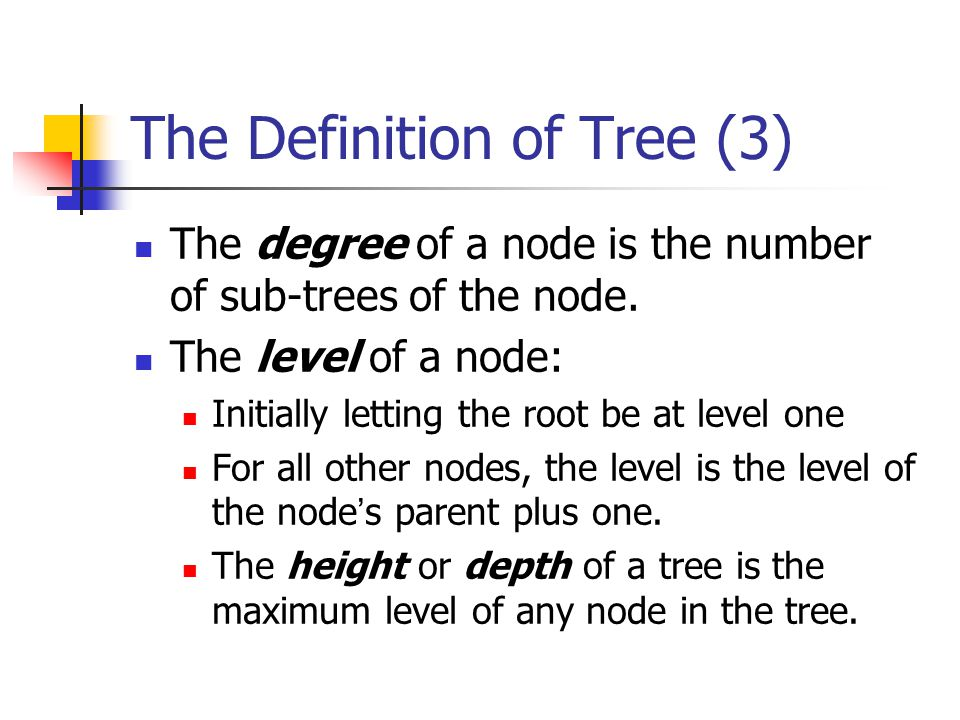 The Definition of Tree (3)