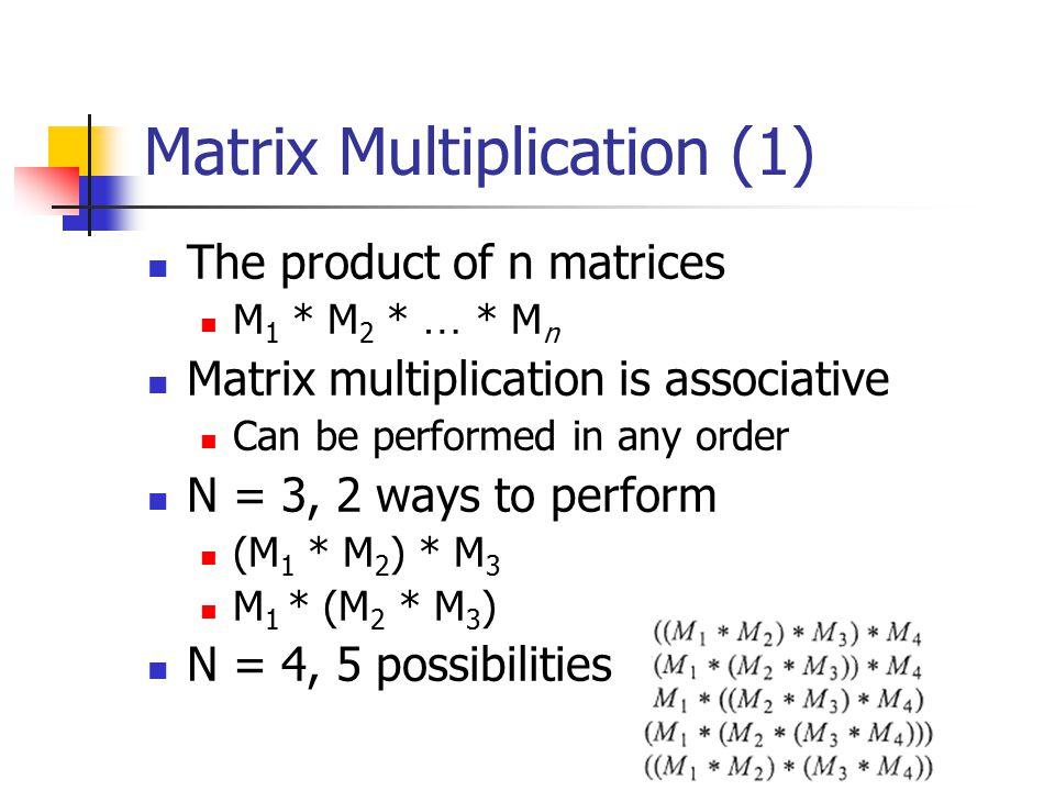 Matrix Multiplication (1)