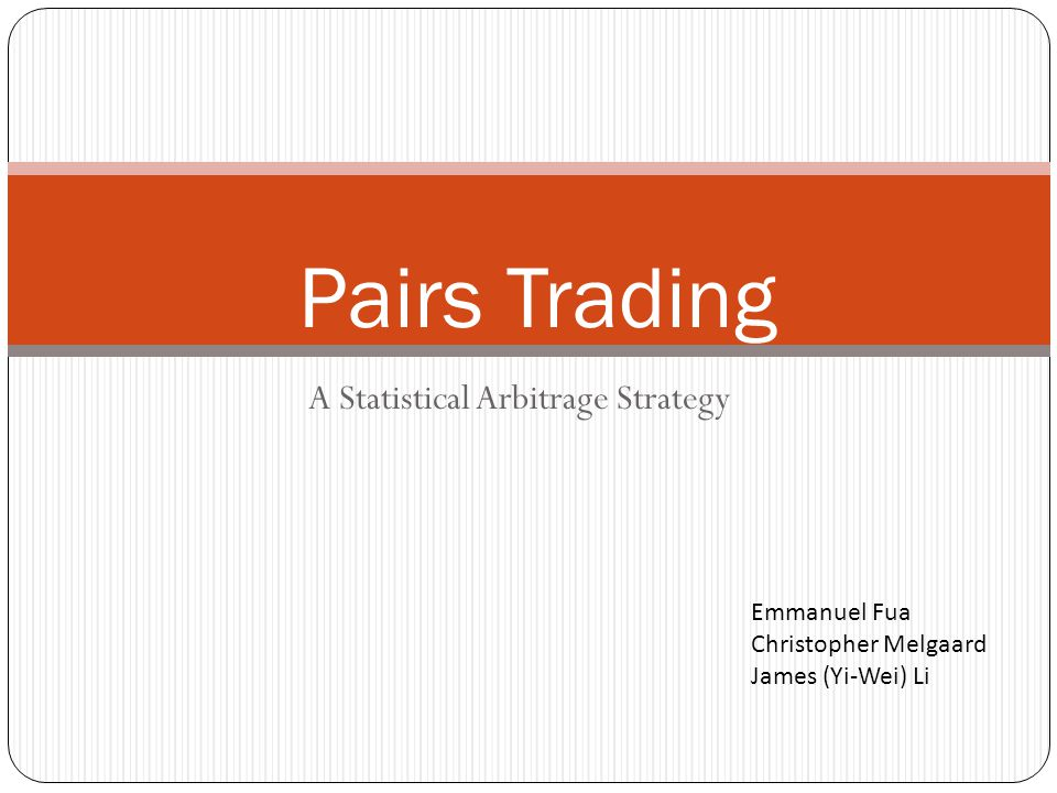 A Statistical Arbitrage Strategy