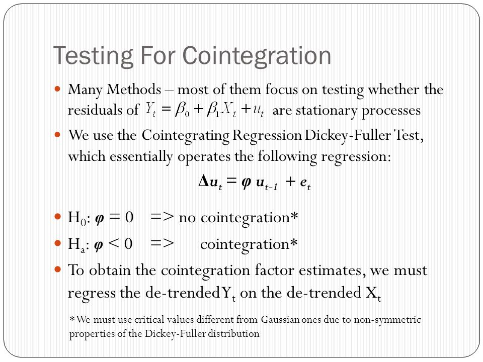 Testing For Cointegration