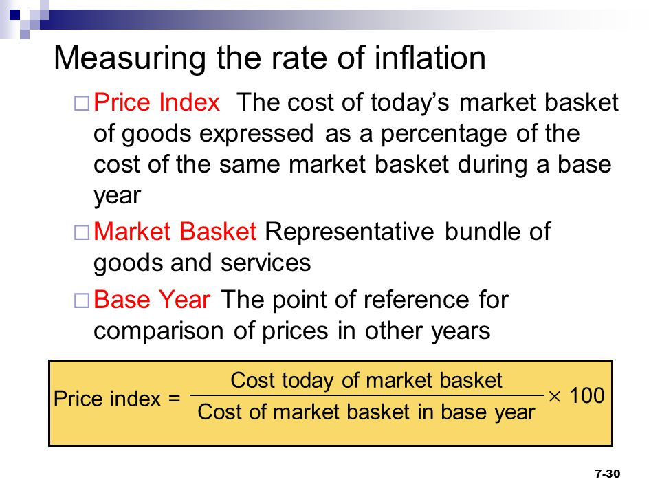 Measuring the rate of inflation
