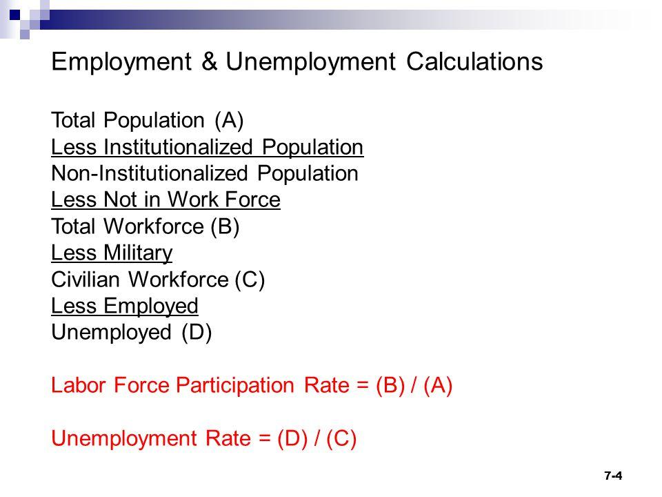 Employment & Unemployment Calculations