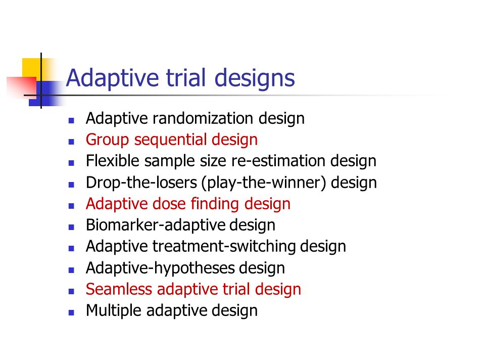 Adaptive trial designs