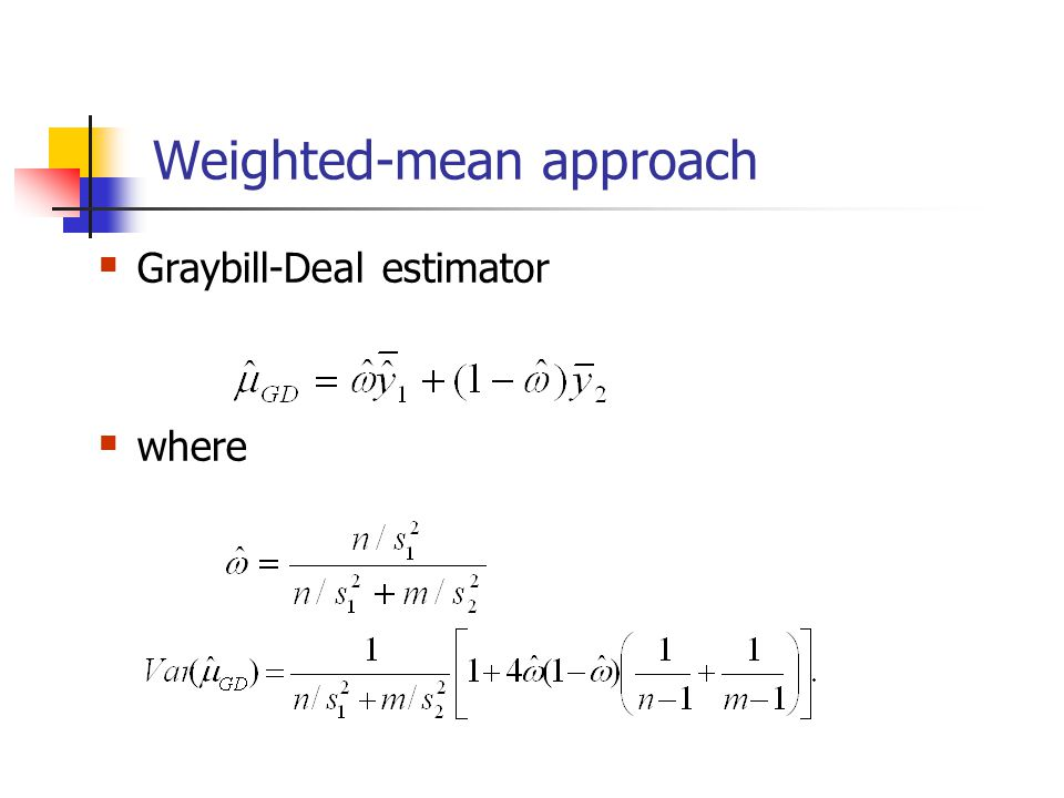 Weighted-mean approach