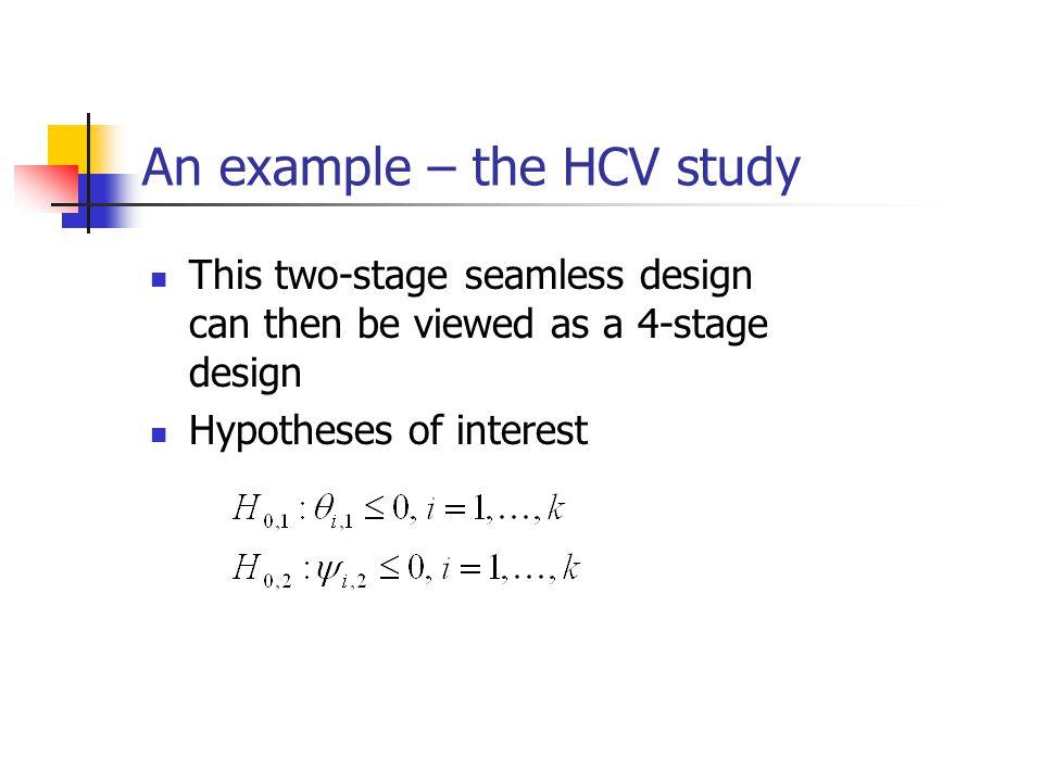An example – the HCV study