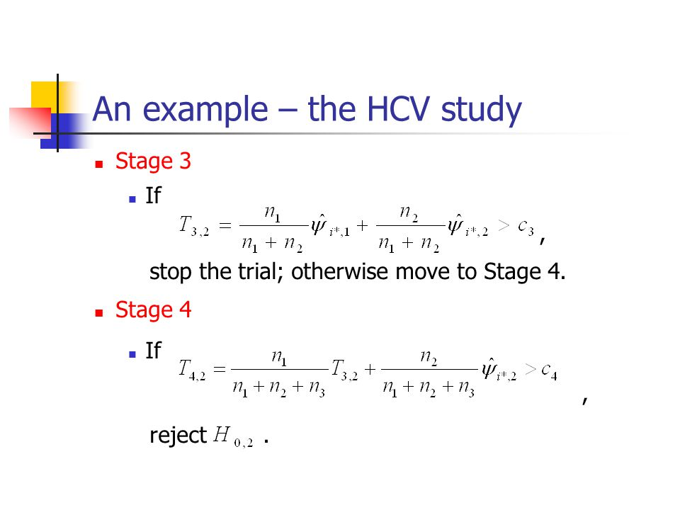 An example – the HCV study