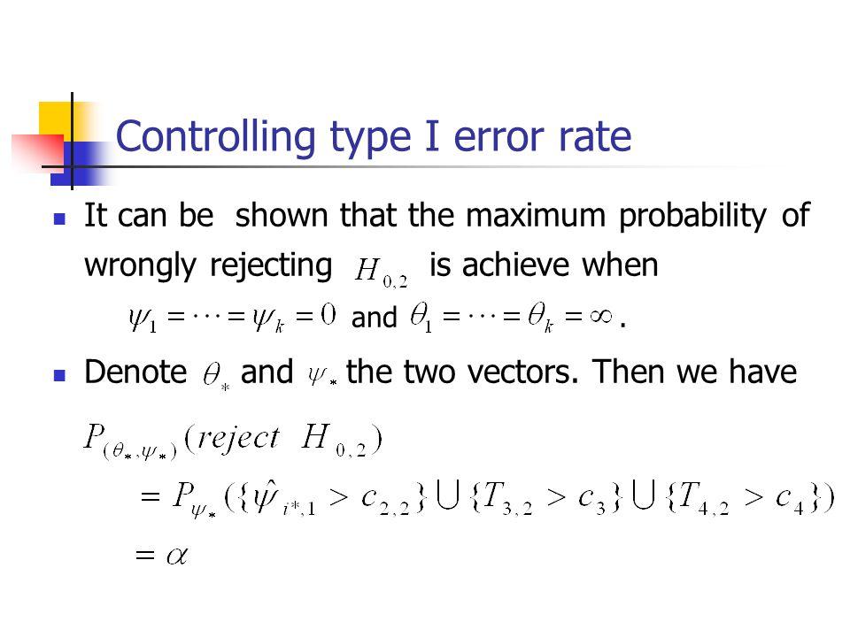 Controlling type I error rate