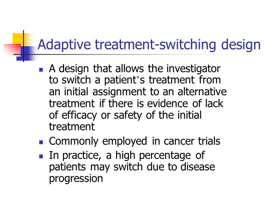 Adaptive treatment-switching design