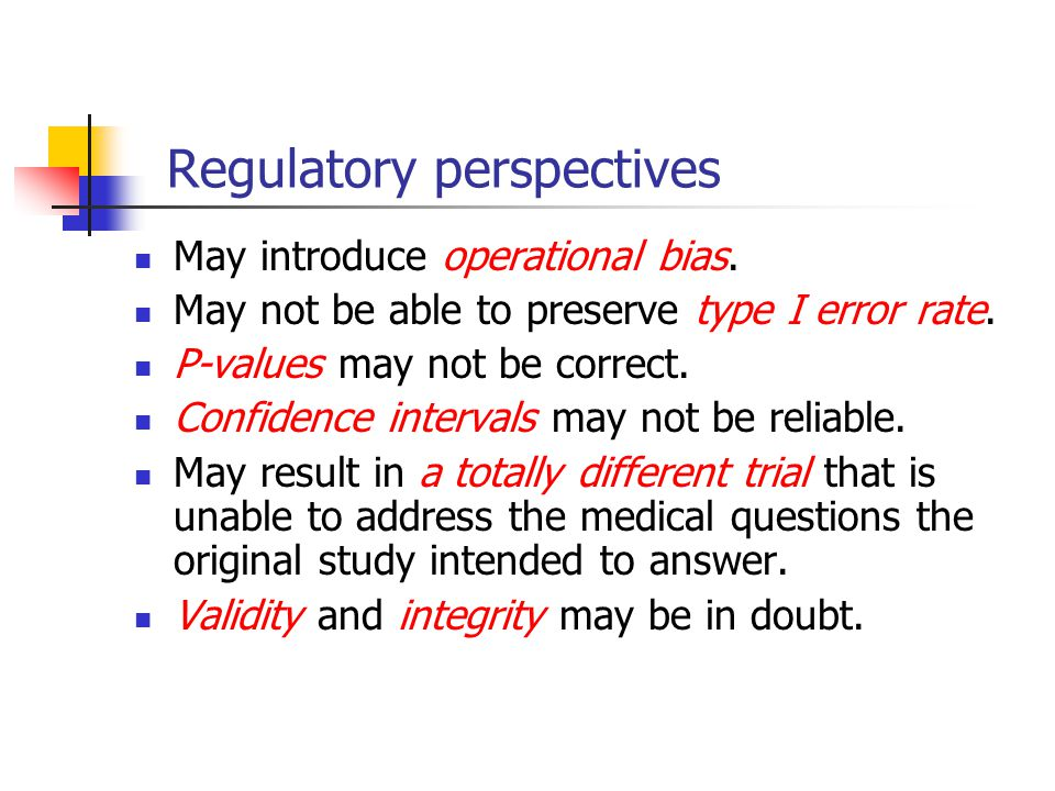 Regulatory perspectives