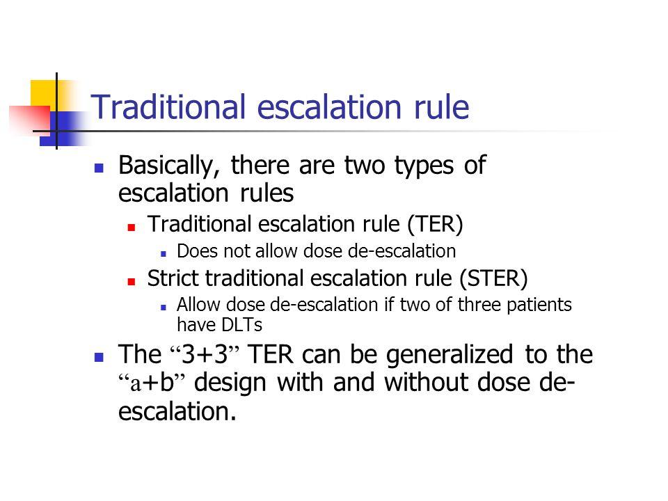 Traditional escalation rule