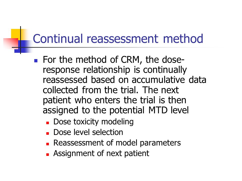 Continual reassessment method