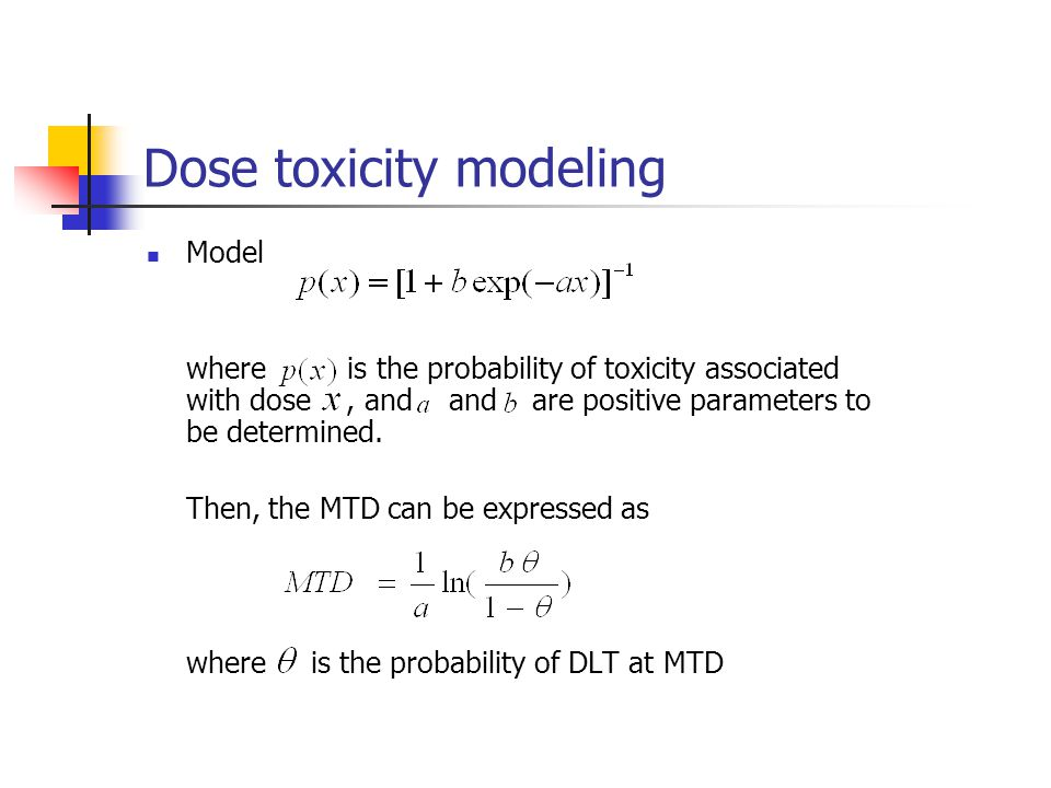 Dose toxicity modeling