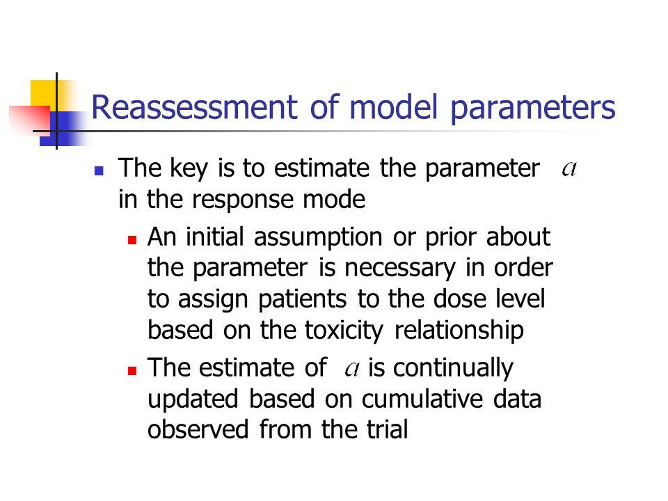 Reassessment of model parameters