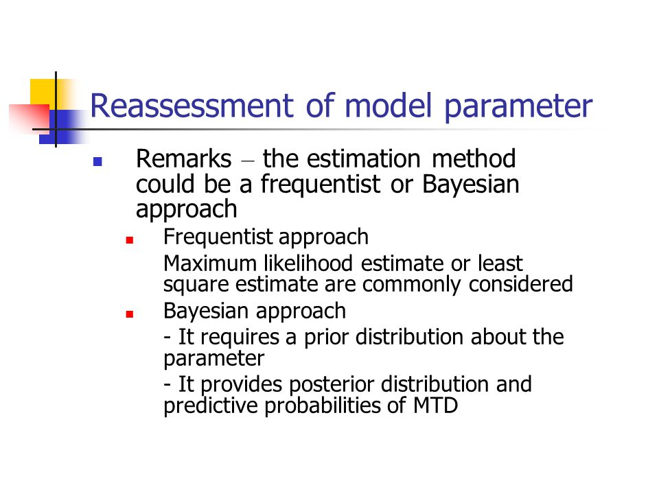 Reassessment of model parameter