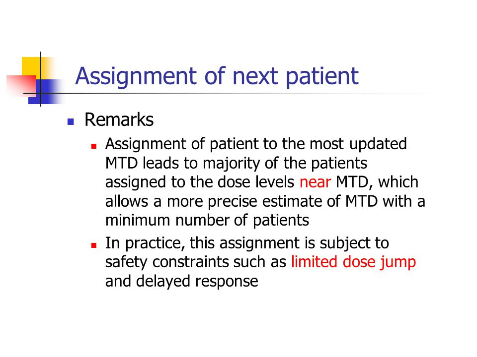 Assignment of next patient