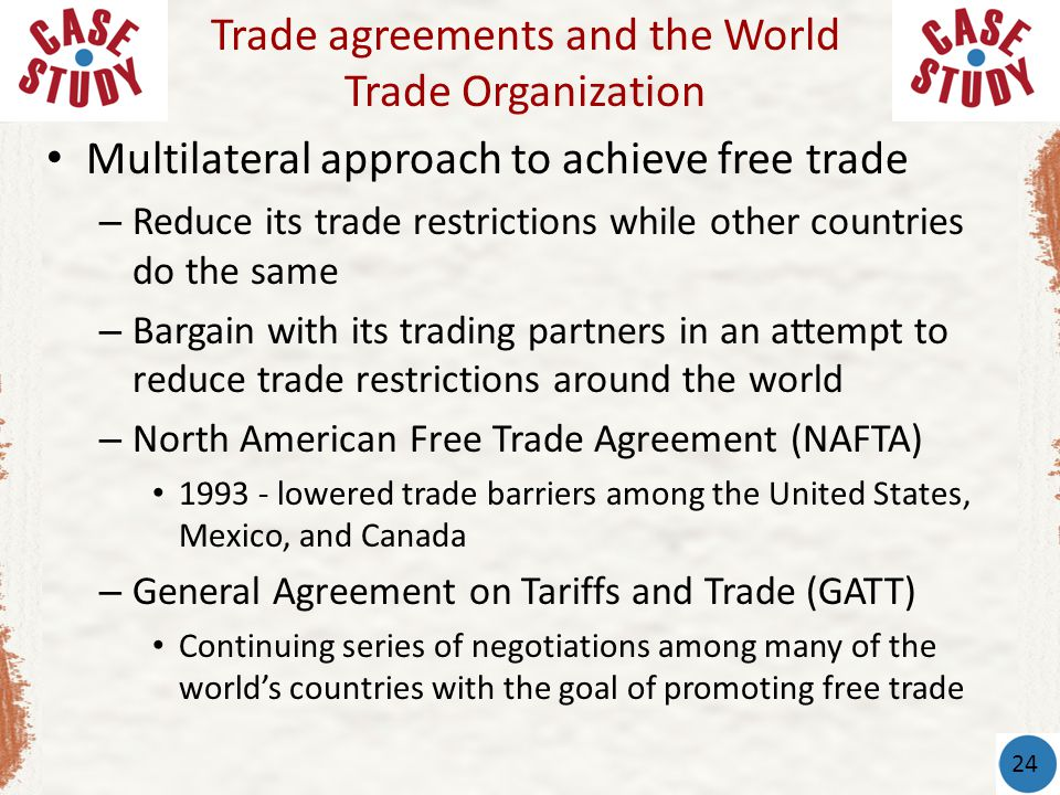 trade agreements and world trade organi Since the mercantilist era, world trade has become increasingly multilateral, but since ww2 there has been a definite rise in regional trade agreements.