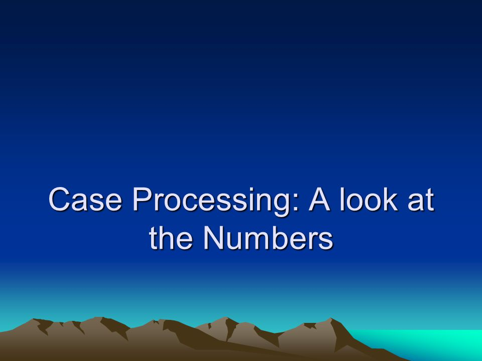 Case Processing: A look at the Numbers
