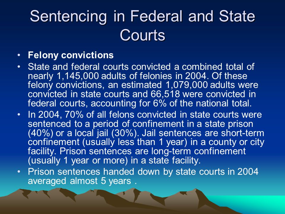 Sentencing in Federal and State Courts