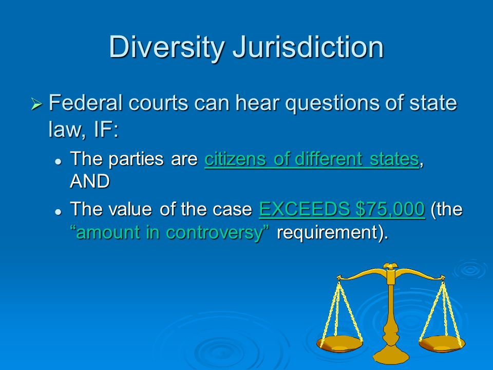 Diversity Jurisdiction