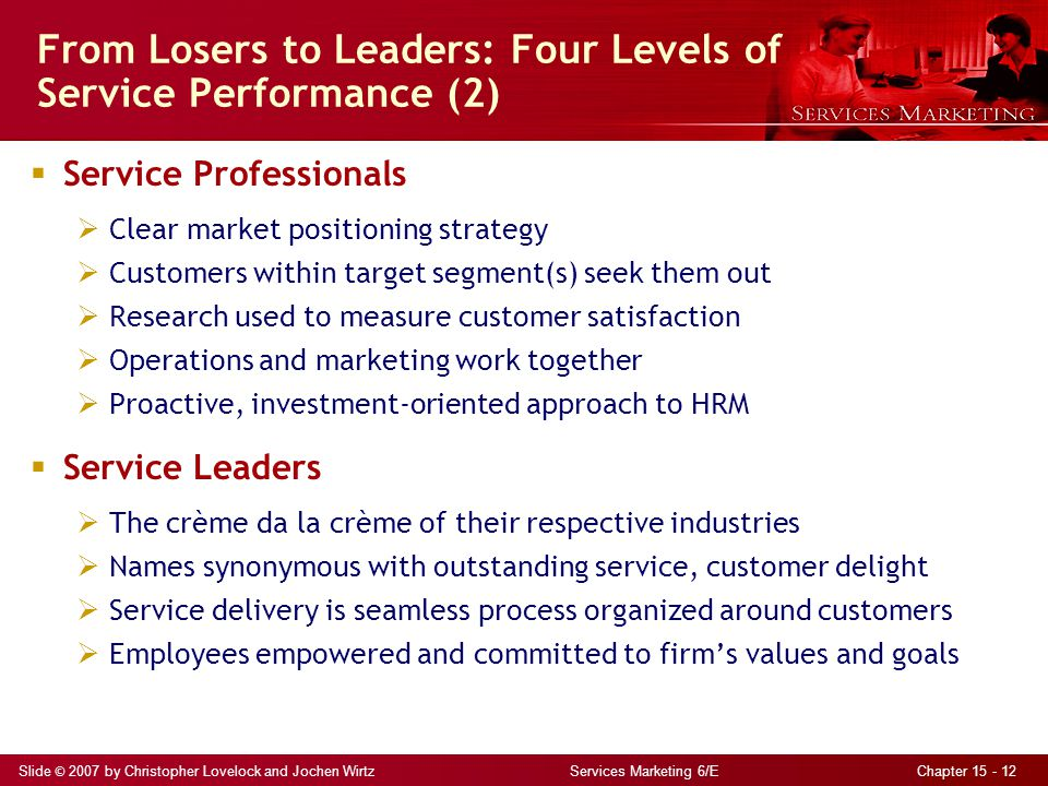 From Losers to Leaders: Four Levels of Service Performance (2)