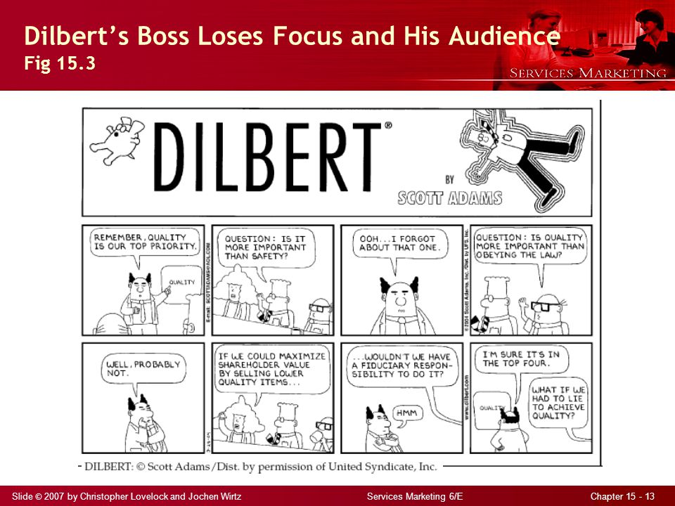 Dilbert's Boss Loses Focus and His Audience Fig 15.3