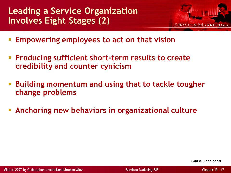 Leading a Service Organization Involves Eight Stages (2)