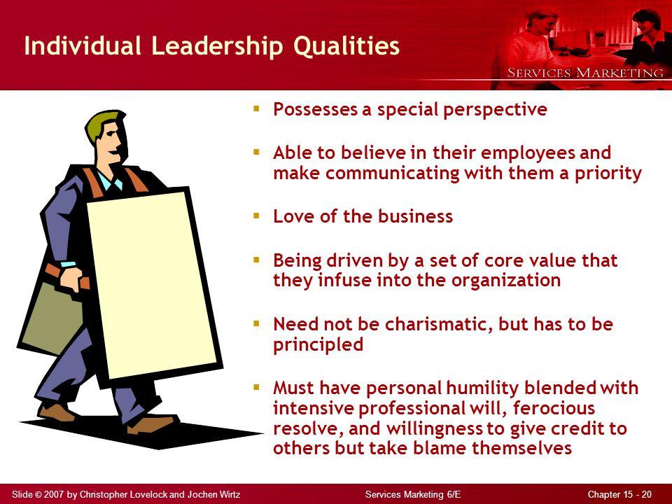 Individual Leadership Qualities