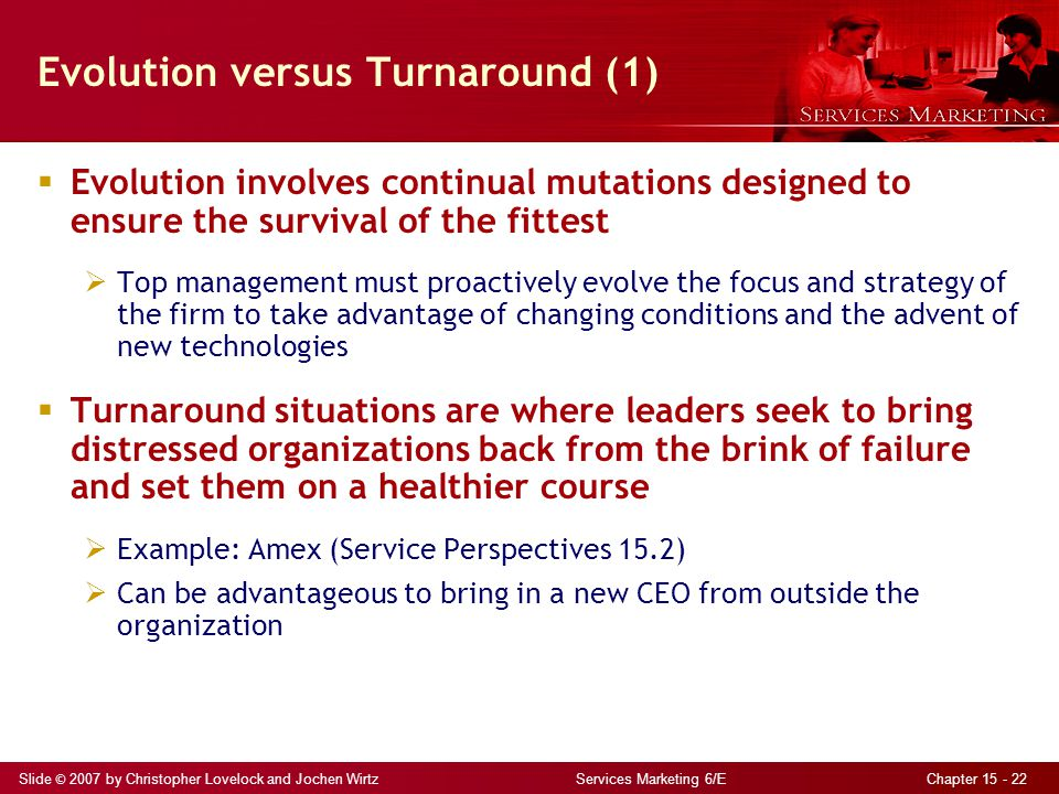 Evolution versus Turnaround (1)